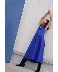 VEDA - Rio Cotton Dress Cobalt - Lyst