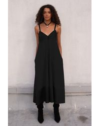 VEDA - Rio Cotton Dress Black - Lyst