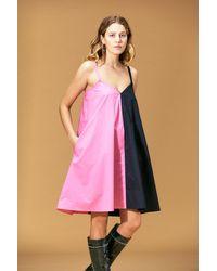 VEDA Fiesta Mini Cotton Dress Flamingo Split - Multicolor