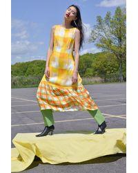 VEDA Queen Dress Marigold Plaid - Yellow