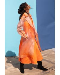 VEDA Dos Organza Trench Sunset Ombre - Orange