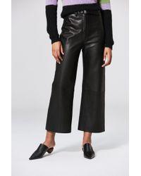VEDA Vance Leather Trouser Black
