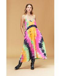 VEDA Playa Maxi Dress Summer Tie Dye - Multicolor
