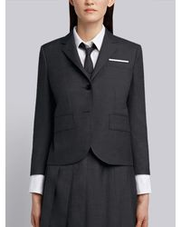 Thom Browne Dark Gray Super 120s Twill Wool Classic Narrow Shoulder Jacket