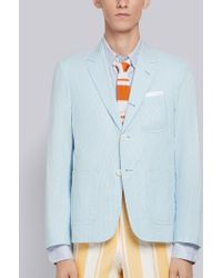 Thom Browne - Patch Pocket Pincord Sack Sport Coat - Lyst