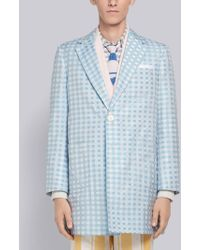 Thom Browne - Small Gingham Sack Overcoat - Lyst