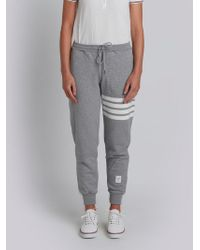Thom Browne Cotton Joggers - Grey