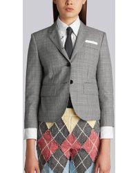 Thom Browne - Classic Single Breasted Sport Coat In School Uniform Prince Of Wales Wool Twill - Lyst