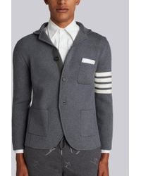 0151fb40a790 Lyst - Thom Browne 4-bar Button-back Sport Coat in Blue for Men