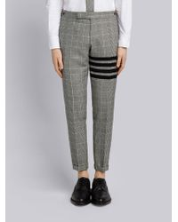 Thom Browne - 4-bar Prince Of Wales Heavy Wool Trouser - Lyst