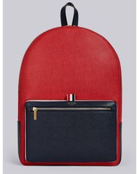 Thom Browne Color-blocked Unstructured Leather Backpack