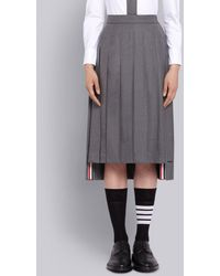 Thom Browne Pleated Skirt - Gray