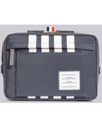 Thom Browne 4-bar Detail Belt Bag - Gray
