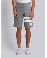 Thom Browne - Striped Detail Track Shorts - Lyst