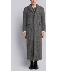 Thom Browne - Horseshoe-knit Wool Chesterfield Overcoat - Lyst