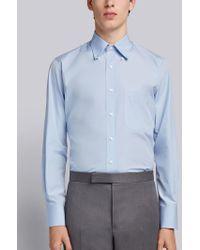 Thom Browne - Solid Poplin Dress Shirt - Lyst