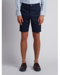 Thom Browne - Chino Short In Navy Cotton Twill - Lyst