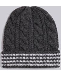 e71f8f7f388 Lyst - Moncler Gamme Bleu Cable Knit Hat in Blue for Men