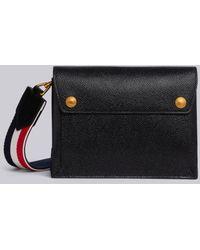 Thom Browne Striped Strap Clutch Bag - Black