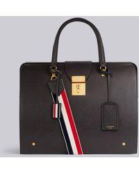 Thom Browne Pebbled Leather Mr. Thom Bag - Black