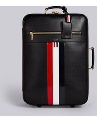 Thom Browne - Leather Check-in Wheeled Suitcase With Red, White And Blue Stripe - Lyst