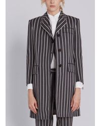 Thom Browne - Classic Chesterfield Overcoat In Bold Blazer Stripe Wool/ Cotton - Lyst