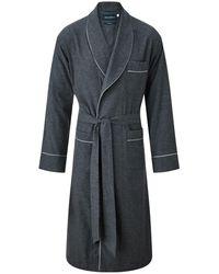 Thom Sweeney Brushed Cotton Robe - Grey
