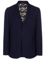 Paul Smith Ps By Buggy Lined Blazer - Blue