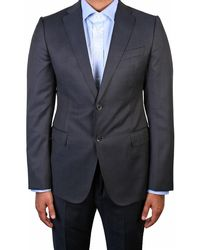 Armani - Blue Suit - Lyst