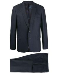 Paul Smith Wool Mohair Woven Suit Navy - Blue