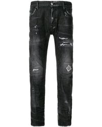 DSquared² - Tidy Biker Jeans Dark Grey - Lyst