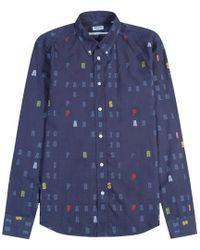 KENZO - Multi Letter Logo Shirt - Lyst