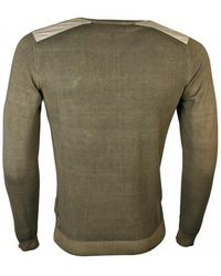 Armani Jeans - Military Green Cotton Sweater - Lyst