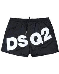 DSquared² 'dsq2' Logo Swim Shorts - Black