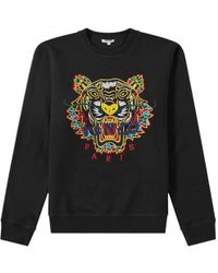KENZO - Black Dragon Tiger Embroidered Sweatshirt - Lyst