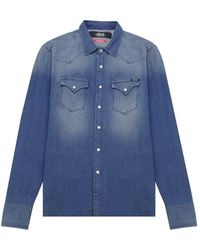 Replay Denim Shirt Colour: - Blue