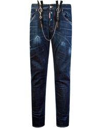 DSquared² Buckle Skater Jeans Blue