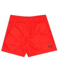 Y-3 M U Swim Shorts - Red