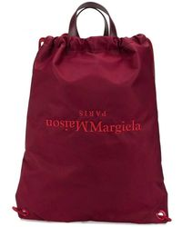 Maison Margiela Reverse Logo Backpack Colour: Red