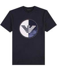 Emporio Armani - Eagle T-shirt Navy - Lyst