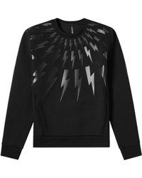 Neil Barrett - Thunderbolt Sweatshirt Black - Lyst