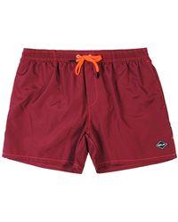 Replay Logo Swim Shorts Maroon Small Maroon - Red