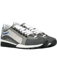 DSquared² Lace-up Low Top Sneakers Grey - Black