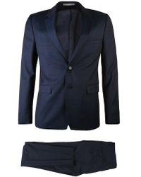 KENZO - Stretch Wool Blend Suit Blue - Lyst