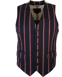 Vivienne Westwood - Buttoned Striped Waistcoat Navy - Lyst