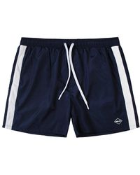 Replay Taped Swim Shorts Navy - Blue