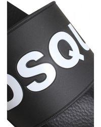 DSquared² Dsquared Logo Sliders Colour: - Black