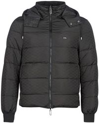 Emporio Armani - Down Jacket Hooded - Lyst