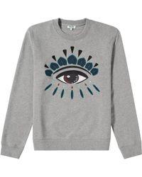 KENZO - Eye Sweatshirt Grey - Lyst
