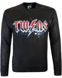 DSquared² Black Coated Chest Print Sweatshirt